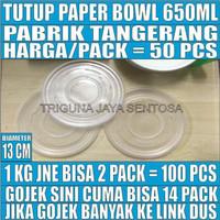 Tutup paper bowl 650ml hanya lid mangkok kertas 650 ml