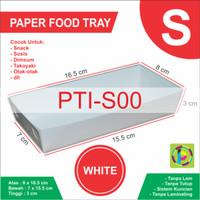 Paper Food Tray Box Snack Kertas Size S - 8 x 16.5 x 3 cm
