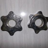 2,4 cm drat mur pengunci utk dumble/dumbel/barbell/barbel set