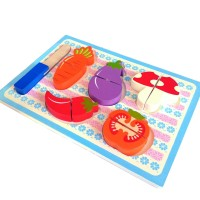 Puzzle Kayu Chunky Sayur Potong Atham Toy Murah Bagus