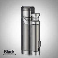 Korek Api Elektrik Pulse Plasma USB Lighter Cigar Cutter - F000241