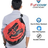 F8MC RainCoat COVER Sarung HELM anti air Jas Hujan Tas HELM Motor Fun