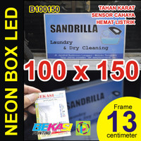 B100150 - Neon Box LED Otomatis Aluminium Extrusion 13 x 100 x 150 cm