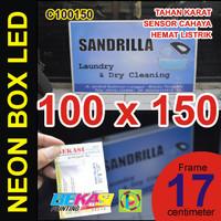 C100150 - Neon Box LED Otomatis Aluminium Extrusion 17 x 100 x 150 cm