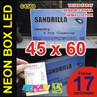 C4560 - Neon Box LED Otomatis Aluminium Extrusion Uk. 17 x 45 x 60 cm