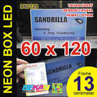 B60120 - Neon Box LED Otomatis Aluminium Extrusion Uk 13 x 60 x 120 cm