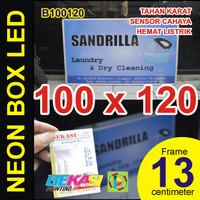 B100120 - Neon Box LED Otomatis Aluminium Extrusion 13 x 100 x 120 cm