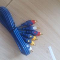 kabel rca 3 jalur 3pin premium