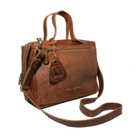 Handbag Kulit Amara Havana Motif - Kenes Leather