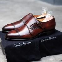 carlos santos Dress Shoes made paris Original authenthic