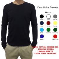 Kaos Polos Lengan Tangan Panjang Soft Cotton Combed 30s Reaktif