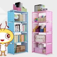 Rak serbaguna 5 tingkat 4 susun rak buku portable lemari multi fungsi