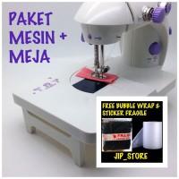 PAKET MESIN JAHIT MINI PORTABLE + MEJA / PAPAN EXTRA 202 (NEW VERSION)