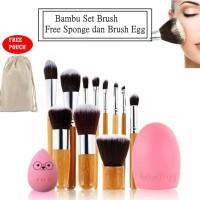 JBS New York Set Kuas Makeup ( paket bambu brush egg telur )