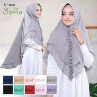 Hijab/Jilbab Khimar SYARI ADEM Dua Lapis Ceruti/Sofia
