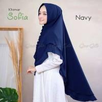 Hijab/Jilbab Khimar Instant SYARI Dua Lapis Ceruti/Sofia