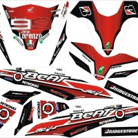 Sticker STRIPING STIKER MOTOR HONDA BEAT-FI LORENZO FINAL Spec A
