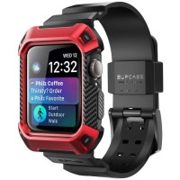 SUPCASE UB Pro Wristband Shock Resistant Apple Watch 4 44mm - Red