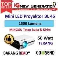 NewG Mini Proyektor LED BL45 1500 Lumiens dan 50 watt Lampu 30.000 Jam