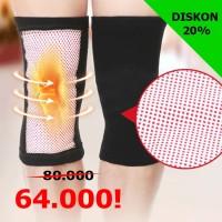 1 pasang Tourmaline Knee Support Hangat Panas/Dekker Lutut/Legsleeve