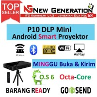 P10 DLP MINI SMART PROYEKTOR / PROJECTOR ANDROID 6.0 OCTACORE 2GB/16GB