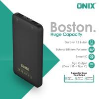 Onix Powerbank Boston -Real 10000mAh Dual Output USB & Micro Input USB