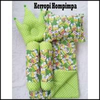 New Kerropi Hompimpa Baby Bed Set Bedcover Selimut Bantal Cover Crown
