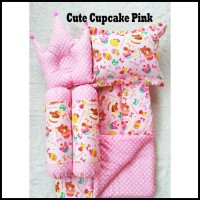 Gosend Ok Cute Cupcake Pink Baby Bed Set Bedcover Selimut Bantal Cover