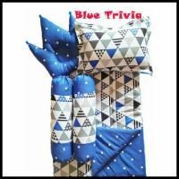 Kualitas Terbaik Blue Trivia Baby Bed Set Bedcover Selimut Bantal