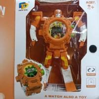 Jam Tangan Anak Robot Orange / Souvenir Kado Ulang Tahun Anak Murah