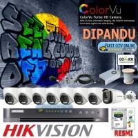 Paket CCTV Hikvision 8 Kamera ColorVu 2MP Instalasi Pasang Dipandu