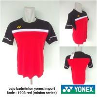 Kaos kostum badminton yonex 1903 red