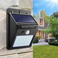20LED Lampu Solar Dinding Teras Taman Tenaga Matahari Sensor Gerak