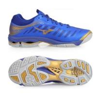 [Original] Sepatu Volley MIZUNO WAVE LIGHTNING Z4 BlueGold V1GA180051