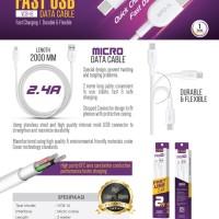 Kabel Data USB V-GeN VCB-16 Fast Charging Kabel Charger Micro USB VGEN