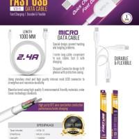 Kabel Data USB V-GeN VCB-15 Fast Charging Kabel Charger Micro USB VGEN