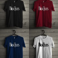 Kaos THE BEATLES Music Distro Band Premium ShinnShana