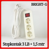 Stopkontak 3LB+1,5mtr on off Socket Terminal kabel stop kontak