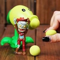 Action Figure Plants vs Zombies Mainan Bisa Nembak