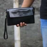Clutch Hendle Unisex Black - Kenes Leather