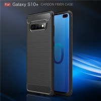 Samsung Galaxy S10 plus Carbon Softcase Back Cover Case Casing Silicon