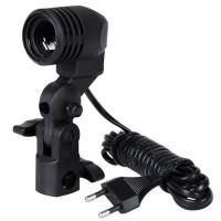 Lamp Holder Single Socket E27 Dudukan Payung Fitting Lampu Studio - EC