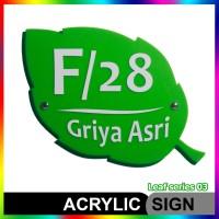 Nomor Rumah Akrilik / Acrylic Leaf Series 03