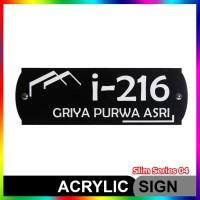 Nomor Rumah Akrilik / Acrylic Slim Series 04