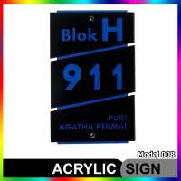 Nomor Rumah Akrilik / Acrylic Modern Minimalis Model 008