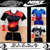 Baju Kaos Olahraga Jersey Bola Setelan Futsal / Volly Mizuno Hijau