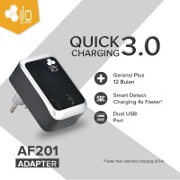 Hippo ILO AF201 Adaptor Charger Fast Quick Charging 3.0 Value Pack