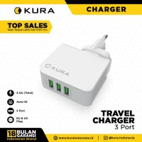 KURA Travel Charger 3 Port