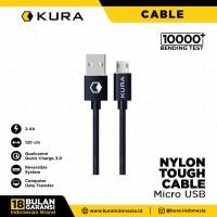 KURA Nylon Tough Cable - Kabel Data Micro USB