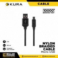 KURA Nylon Braided Cable - Kabel Data Micro USB